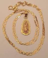 rose gold chain necklace images 14k yellow rose gold virgin mary pendant charm 18 inch valentino jpg