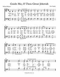 choir sheet guide me o thou great jehovah