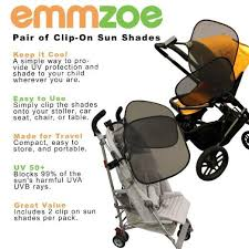 Baby Chair Clips Onto Table Emmzoe Baby And Toddler Clip On Sun Shade 2 Pack