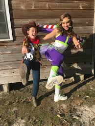 diy homemade teen toy story buzz light year and woody halloween