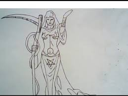 how to draw a female grim reaper drawing ep 163 youtube