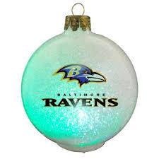 topperscot baltimore ravens nfl led color changing ornament