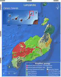 Canary Islands Map Assessing Qualitative Long Term Volcanic Hazards At Lanzarote