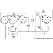 33 watt triple head led security light