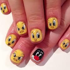 easy nail art characters 60 most beautiful cartoon nail art design ideas