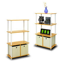 4 Tier Shelving Unit by Furinno Go Green 4 Tier Multipurpose Storage Rack Shelving Unit W
