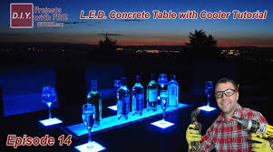 Patio Ice Bucket With Stand by How To Make An Led Concrete Table With A Built In Cooler Youtube