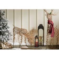 Outdoor Grapevine Reindeer Christmas Decorations by Reindeer Outdoor Holiday Decorations You U0027ll Love Wayfair