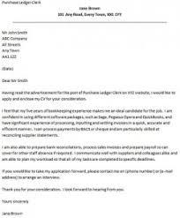 Cover Letter for a Purchase Ledger Clerk   icover org uk