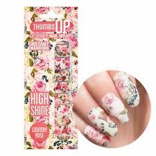 country rose floral nail wraps thumbsup nails