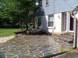 Building Flagstone Patio Clark Kent Creations Swarthmore Pa Landscape Design And