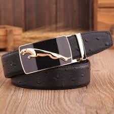 aliexpress com buy gold jaguar belts mens strap cowhide genuine