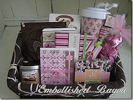 office gift baskets embellished bayou pretty in pink gift basket