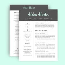 Best Resume Templates Etsy by Resume Template Cv Template For Word Two Page Resume Cover
