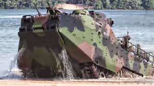 amphibious vehicle military marines practice beach landing in amphibious assault vehicles
