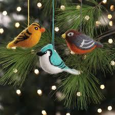 felted bird ornaments set feltornaments crafts ornaments birds