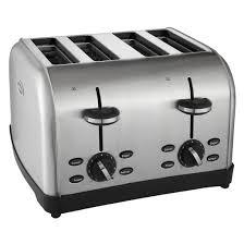 4 Slice Toaster White Oster 4 Slice Stainless Steel Toaster Tsstrtwf4s Target