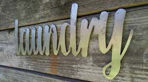 laundry sign metal farmhouse sign metal words metal wall art