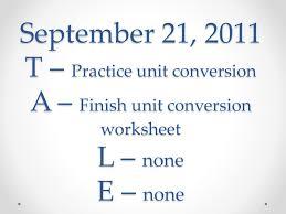 conversion practice worksheet september 21 2011 t practice unit conversion a finish unit