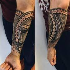 40 polynesian forearm designs for masculine tribal