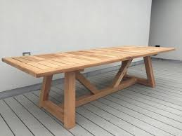 hand made western red cedar outdoor dining table by dereva
