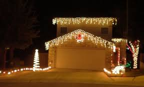 red and white alternating christmas lights live laugh love tacky is at an all time high