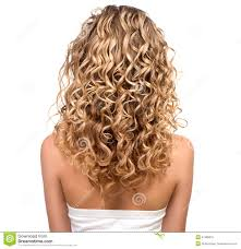 should older women have their hair permed curly beauty girl with blonde permed hair stock photo image 41395810