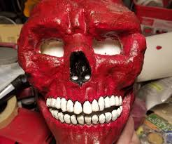 how to make a red skull mask from a rubber skull mask 13 steps