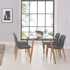 table à manger en verre 4 chaises scandinave loa achat vente