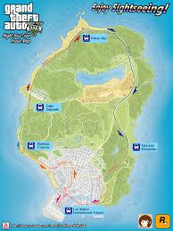 Gta World Map Gta 5 Night Bus Tour Route Map By Chunzprocessor On Deviantart
