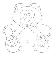 teddy bear coloring page free printable coloring pages