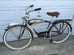 vintage schwinn 1949 b6 cantilever frame tank bicycle original paint