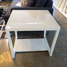 sale on tall glass top contemporary side table five elements