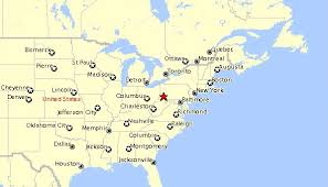 map eastern usa states cities map mid eastern usa