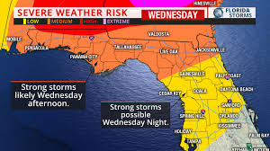 Florida Tornado Map by Wind Damage Tornadoes Possible In Parts Of Florida Tonight Uf