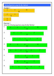 solving linear equations using the bar method by ianmckenzie