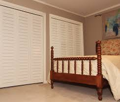 Louvered Closet Doors Louvered Closet Door In Bedroom Buzzardfilm Stylish