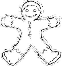 gingerbreadman coloring page printable christmas coloring page gingerbread man