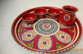 how to make a decorative pooja thali youtube