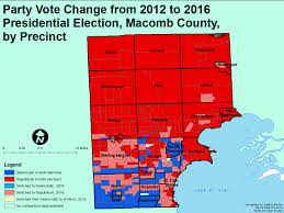 Map Of Election Results by Change Evident In Southeastern Michigan For Presidential Election