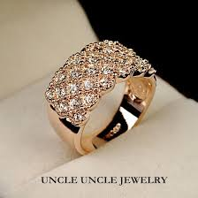 ladies finger rings images Luxury woman finger ring rose gold color clear zirconia timeless jpg