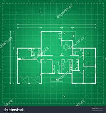 Project House by Vector Illustration House Project House Blueprint Stock Vector