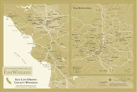 paso robles winery map san louis obispo county paso robles area winery map