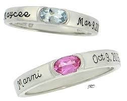 personalized rings for halo with genuine artcarved personalized mothers rings
