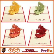 How To Make Origami Greeting Cards - diy creative sailing boat greeting cards handmade kirigami