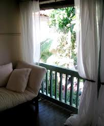 balcony curtain inspiration a tropical balcony outdoor curtains balconies and