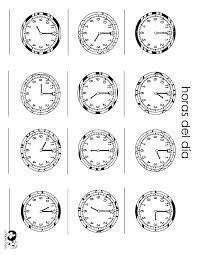 telling time in spanish worksheets with answers telling time in