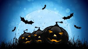 cute spooky background blue halloween background clipartsgram com