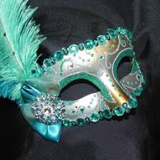 venetian masquerade mask venetian masquerade mask in aqua teal from the crafty chemist07