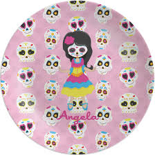 personalized melamine platter kids sugar skulls melamine plate personalized youcustomizeit